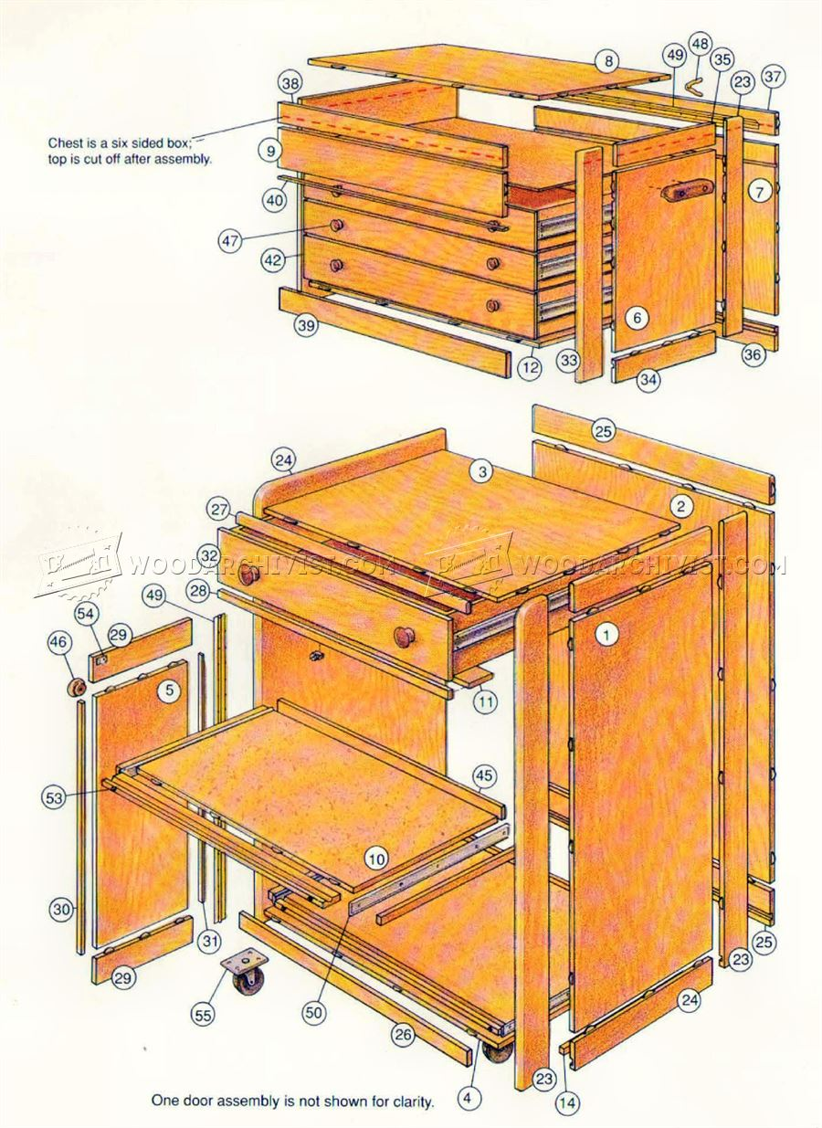 Rolling Tool Cabinet Plans Woodarchivist