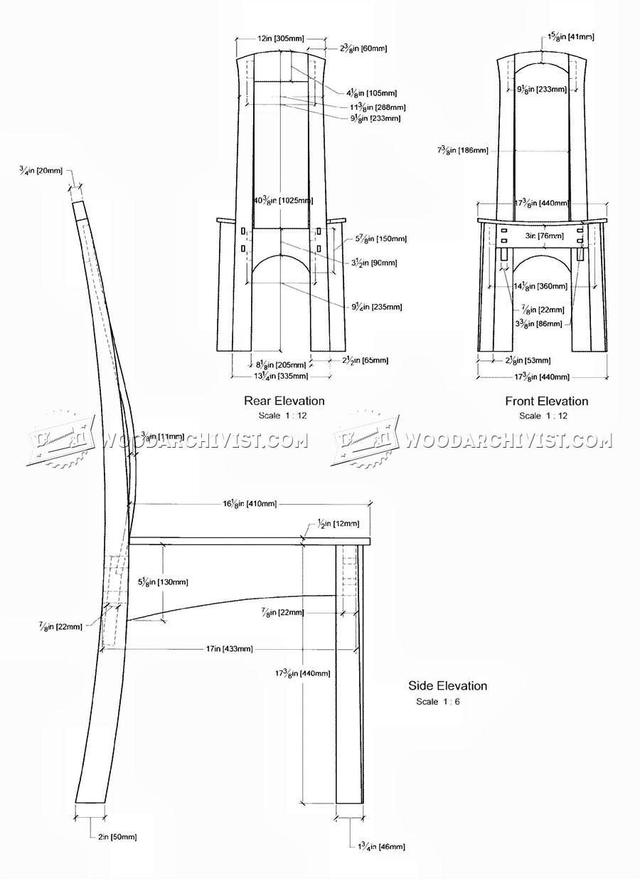 Laminated Dining Chair Plans WoodArchivist
