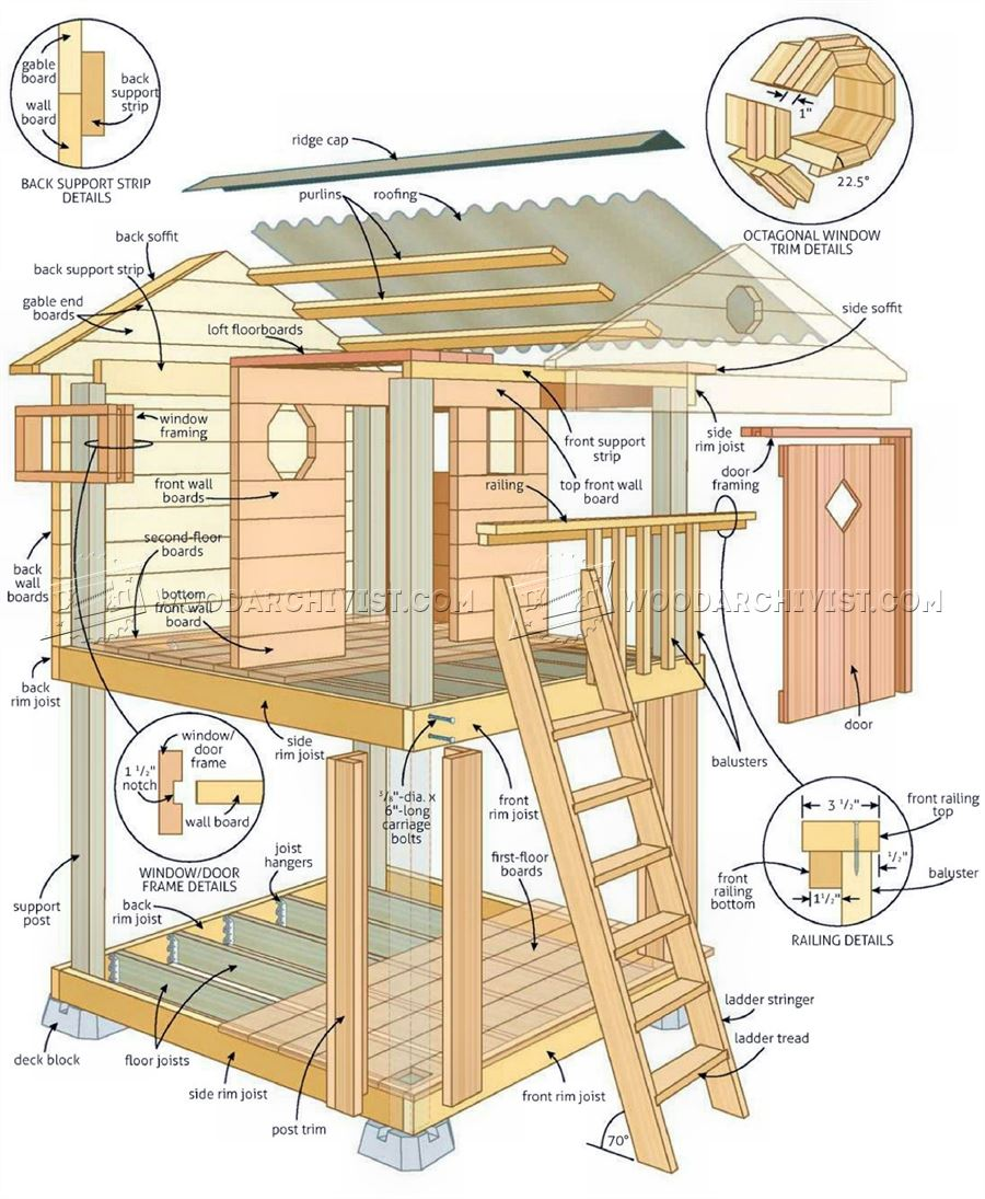 Backyard Playhouse Plans WoodArchivist