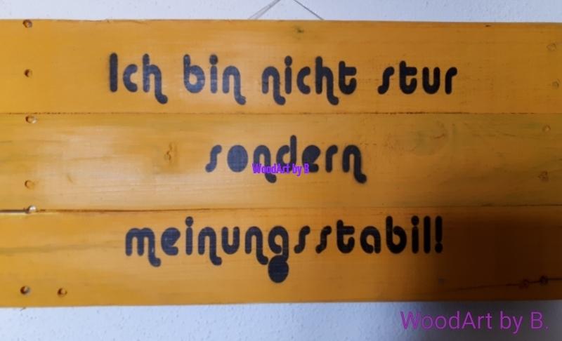 WoodArt by B. Meinungsstabil Wanddeko_Sprücheklopfer
