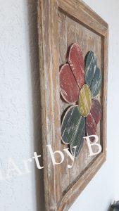 Bild mit Blume und Rahmen