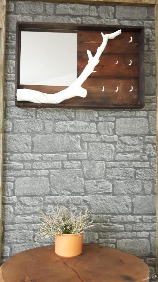 Schlüsselboard,Garten,Schluesselbrett mit Ast Dekoration und Accessoire