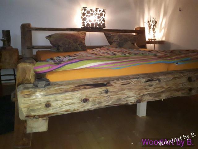 Bett im Balkendesign Sitzmöbel