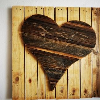 Herz auf Altholz, Herz auf Palette