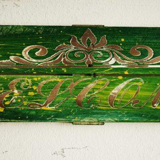 welcome Einwegpalette Wanddekoration Willkommen Ornament
