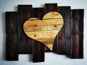 Herz auf Altholz XL