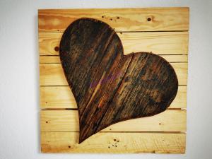 Das Herz auf der Einwegpalette