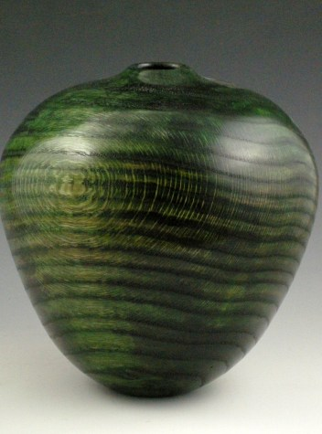 Oval Green Vessel, View 2