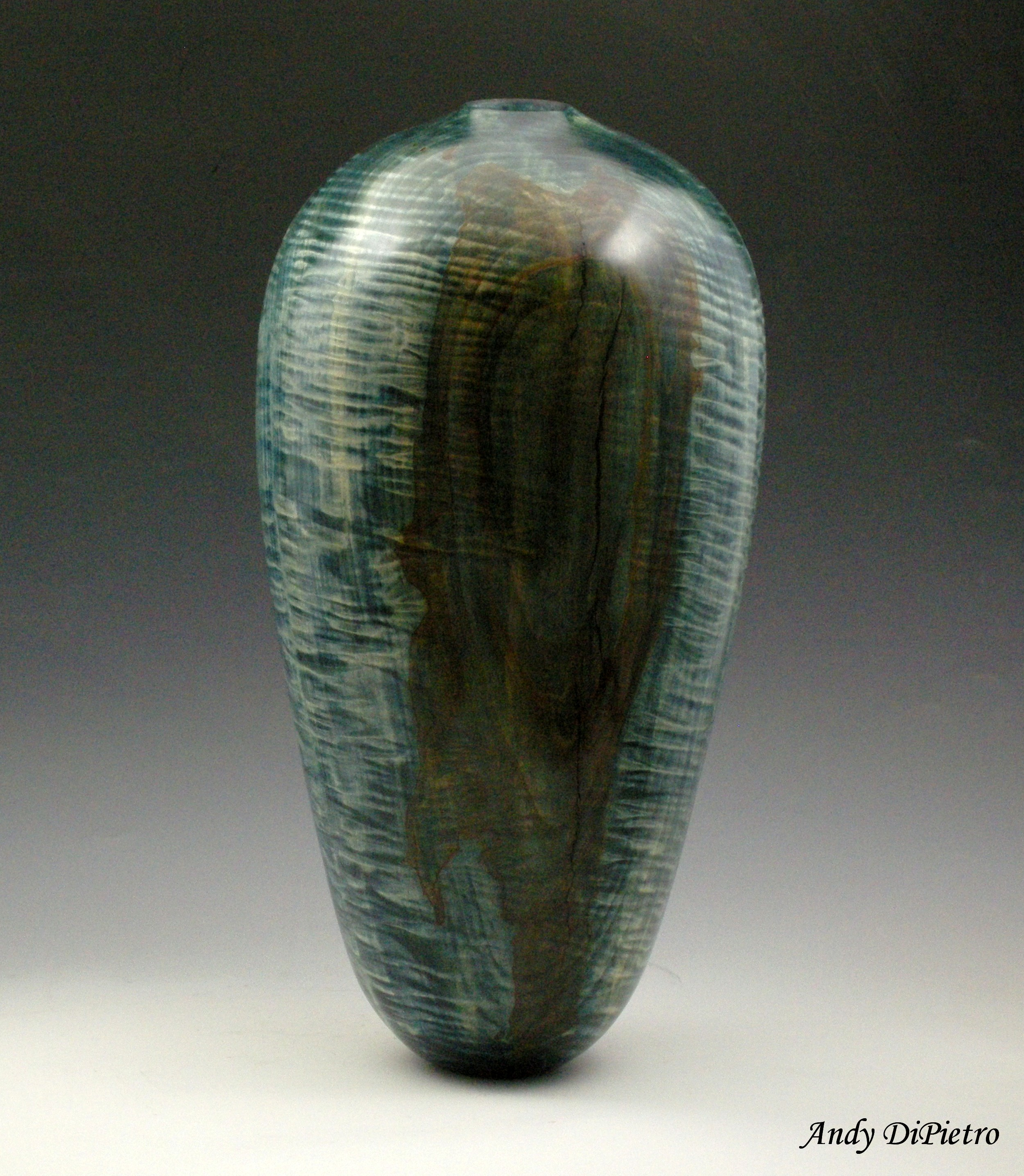 Curly Blue Vessel