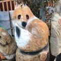 fox wood carving woodbank nurseries