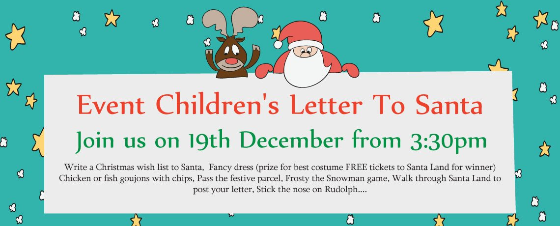 Write a childrens letter to Santa event