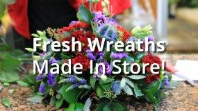 Freshly Made Wreaths & sheafs