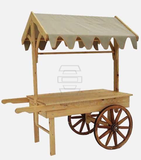 Wooden Display Cart Retail Displays Wood Wagons