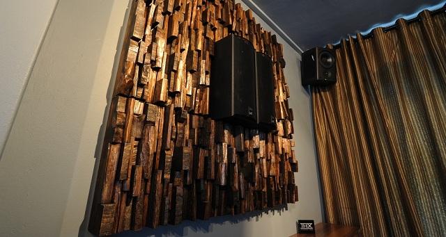 acoustic panels, acoustic treatment, home theatre acoustic, wood sound diffusers, art meets sound, wood blocks acoustic panels, art diffusive panels