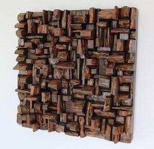 Art of acoustic panel, sound treatment, wood art, sound diffuser