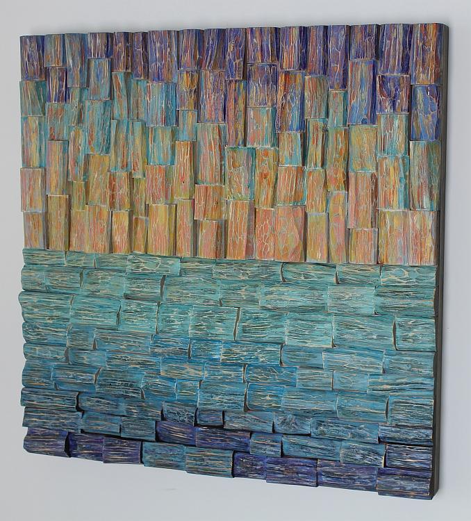 wood wall art, acoustic panel, nature art, Olga Oreshyna art, interior design ideas, home decor, cottage decoration, corporate art, hospitality art, artexpo NY