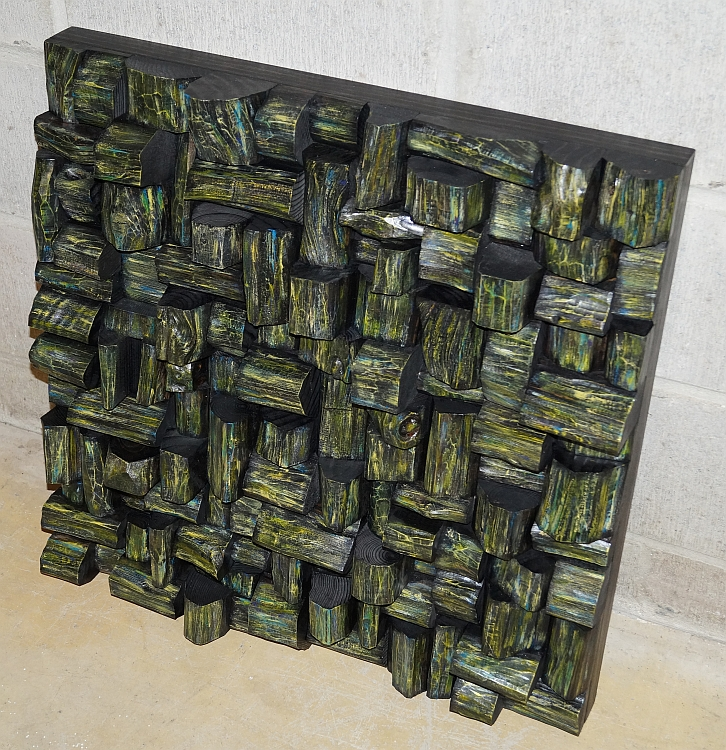 Custom wall art, modern wood wall sculpture designed and created as a functional piece of art. Acoustic wood wall art is impressive combination of unique contemporary design and high acoustic performance.