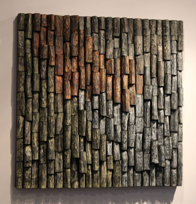 wooden art. wood wall art, contemporary wooden art, corporate art, office art, acoustic panel, wood sound diffuser