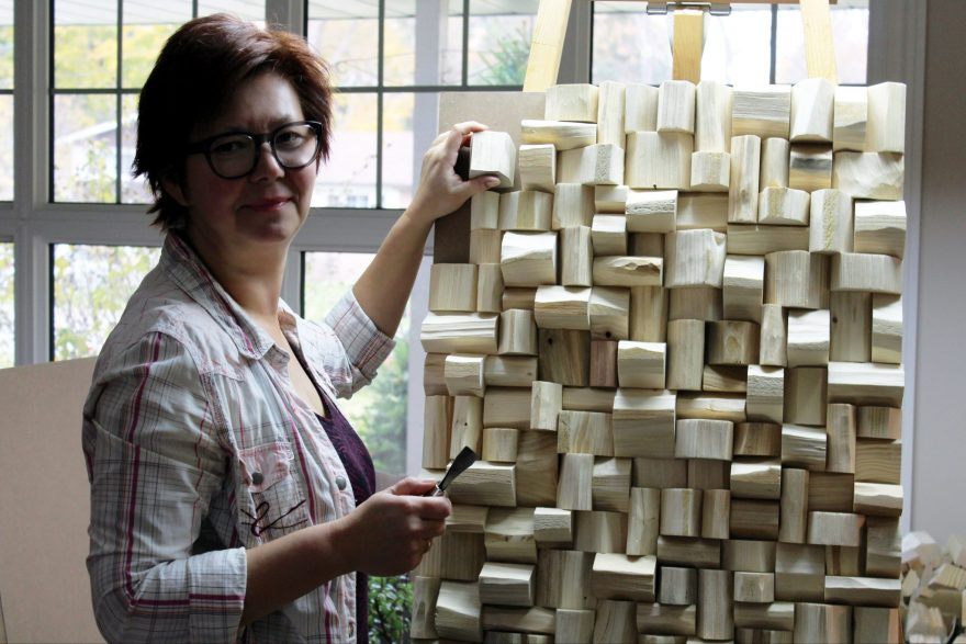 Olga Oreshyna, a Canadian artist, who is deeply passionate about wood working, takes sculpture into a new realm