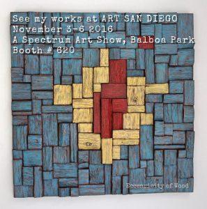 art san diego, contemporary art show, wood art, artexpo, olga oreshyna art,