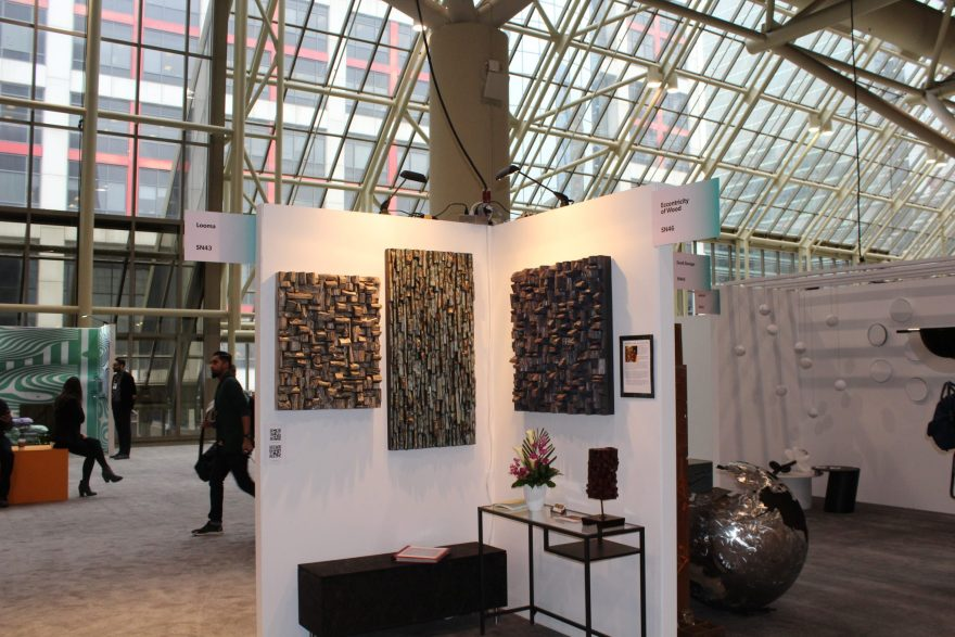 IDS Toronto, interior design show Toronto, acoustic panels, wood art, wood sound diffusers, Olga Oreshyna art, Toronto art show, interior design, home decor, wood wall art, wall art ideas