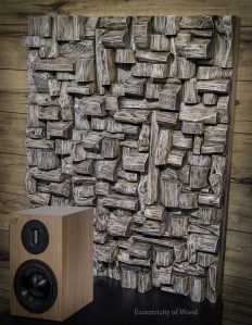 wood sound diffuser, wood blocks panel, art acoustic panel, acoustic treatment, home audio, listening room, recording studio, home theatre, acoustic solution, sound control, art diffusive panel, audio diffuser, acoustic design, wood interior design ideas