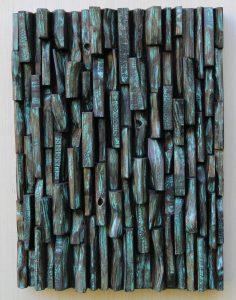contemporary wall sculpture, wood art, wood blocks assemblage, 3d art, zen art, Olga Oreshyna wood art, eccentricity of wood, wood blocks design, contemporary wood art