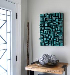 holiday gift ideas, one of kind art, wood blocks art, contemporary wood art, natural art, textured art, wood assemblage, zen art, well being, eco art, feng shui design, wood wall art