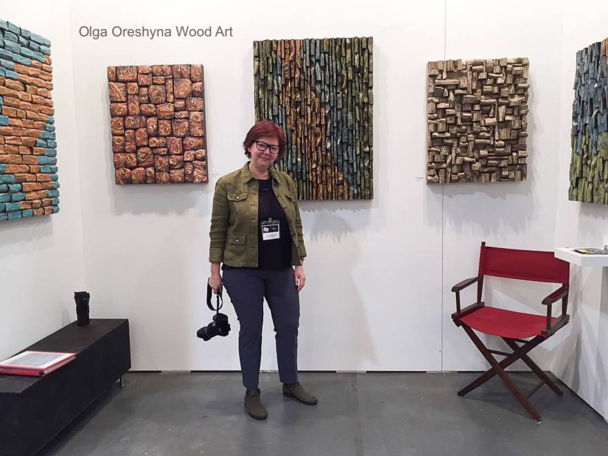 Exceptional wood wall sculptures by Canadian artist Olga Oreshyna will be on display at Artist Project Toronto