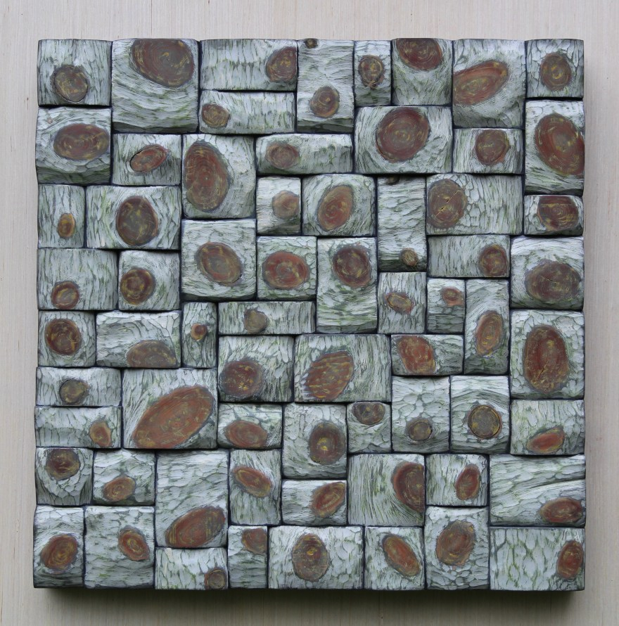 """Abstract wall art """"Daisy Twist"""", unique combination of richly textured surfaces and intricate shapes formations, pleases the eyes and holds the attention."""