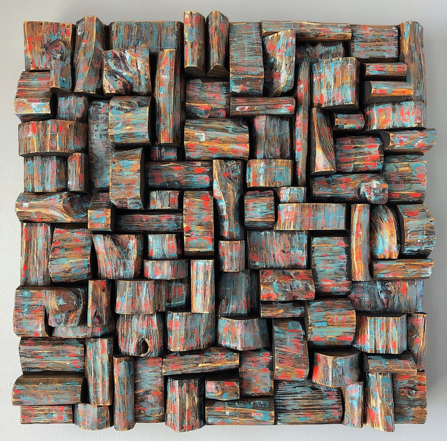 Wall Art Wood Assemblage