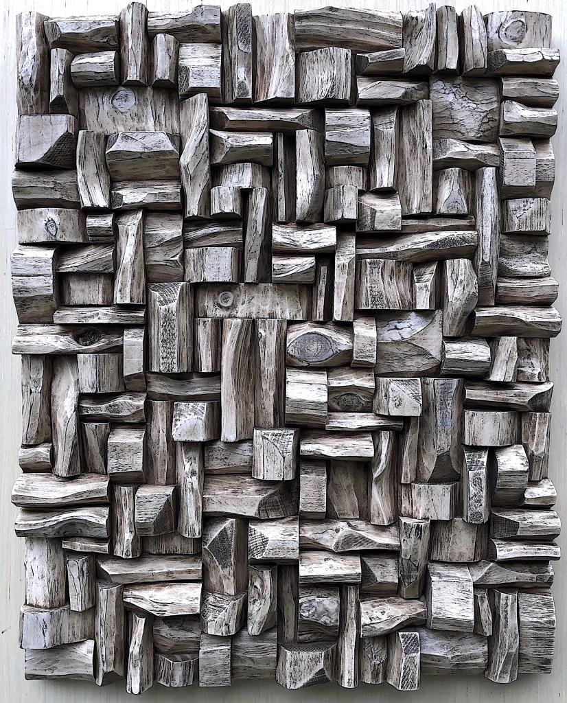 Contemporary Art, wood sound diffuser