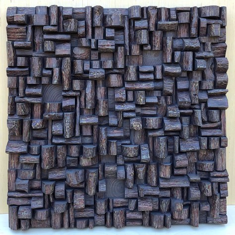 wood art sound diffuser, modern wall sculpture