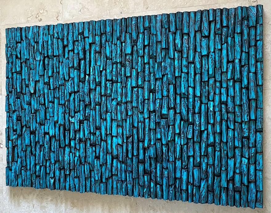 wood art sound diffuser, contemporary wall sculpture