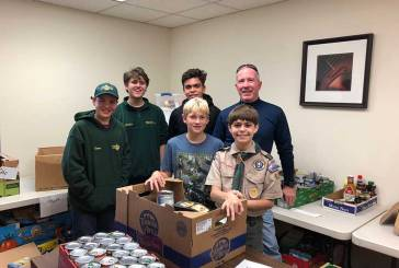 Woodbridge Boy Scout Troop 63 Collects for Food Pantry