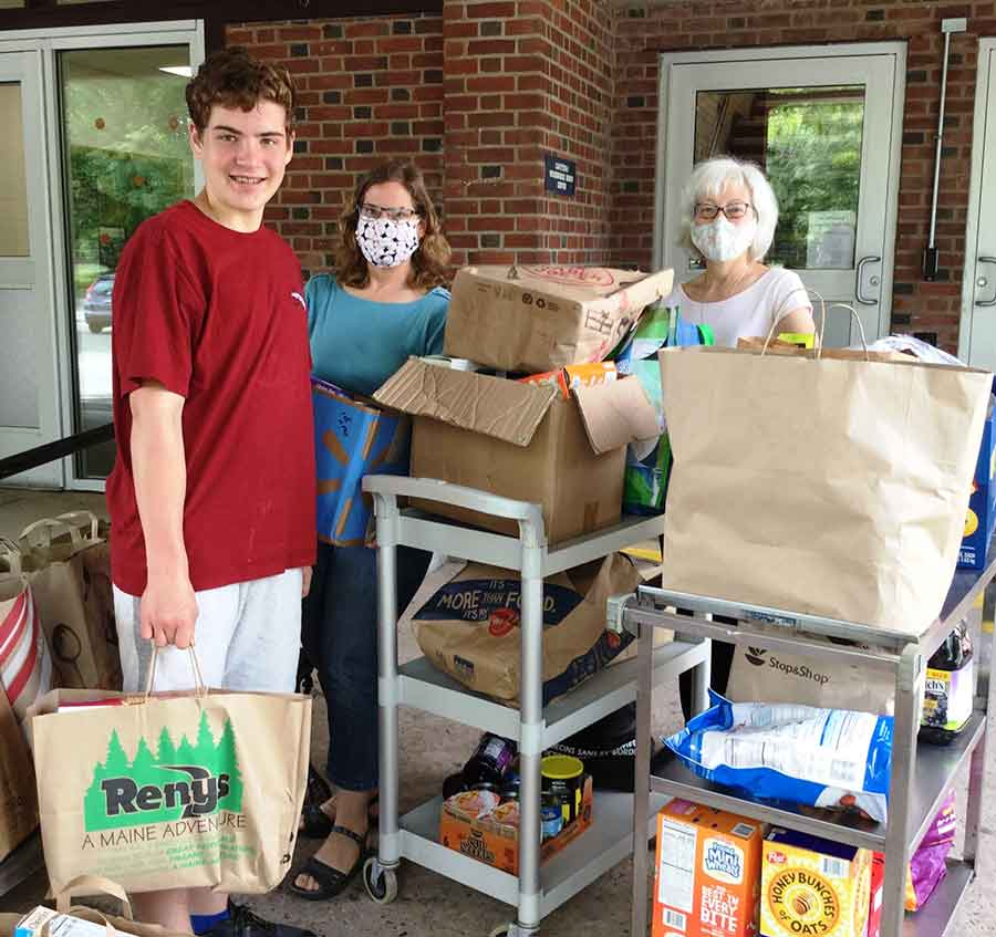 Amity Middle School Food Donations
