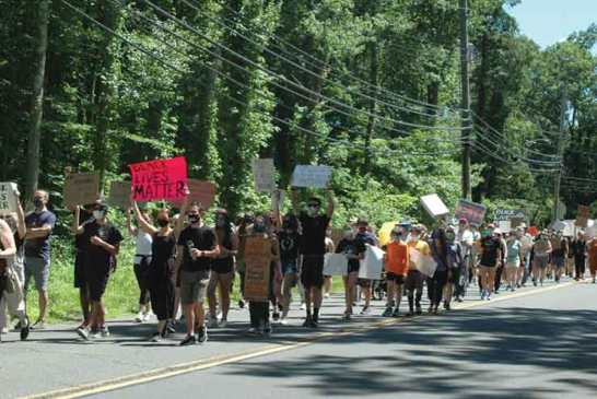 Protest March Draws Crowd