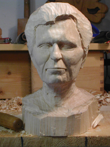 Portrait Fiebig And Yundt Woodcarving