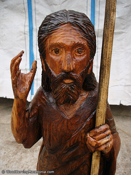 Image result for Saint John The Baptist sculpture – chainsaw woodcarving (Sveti Jovan Krstitel – skulptura)