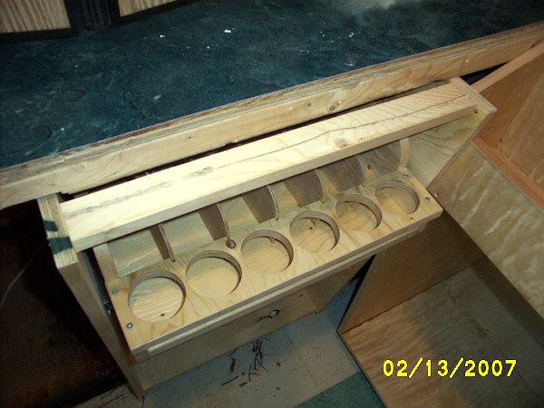 Sliding shelf bar service cabinets