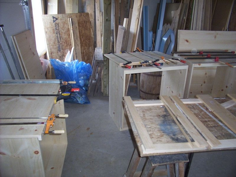 Solid pine cabinets