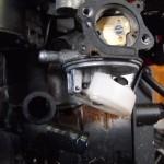 Mower gas leak