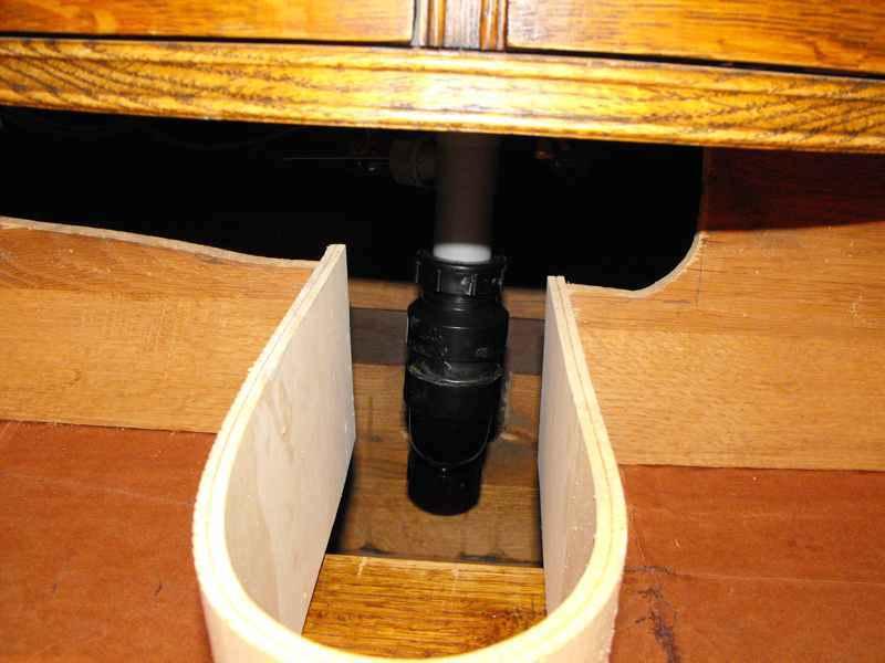 Bathroom vanity dresser plumbing