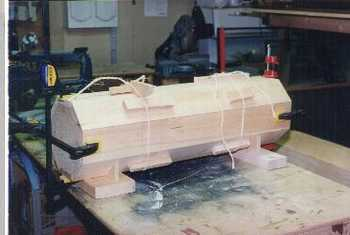 Wooden column woodworking project.