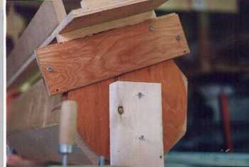 Wooden column router sled jig