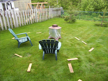 Designing a fire place in the back yard