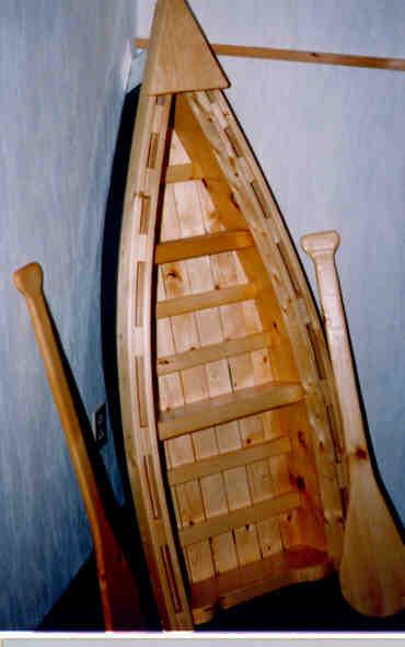 Rowboat bookshelf