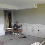 Trimming the wainscot boxes