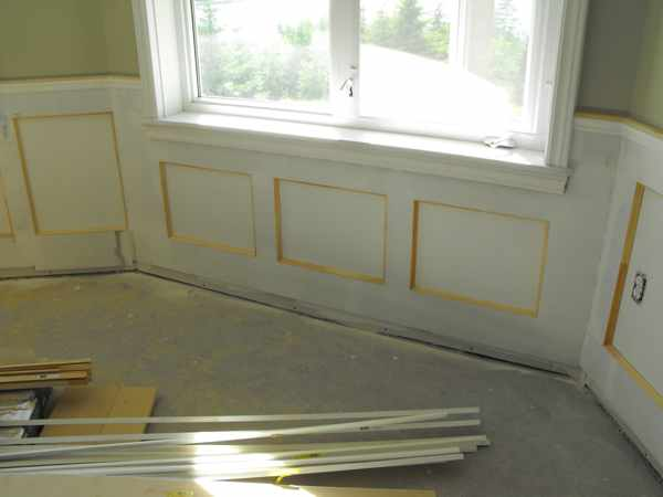 Custom wainscoting.