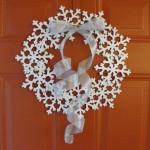 Snowflake door wreath